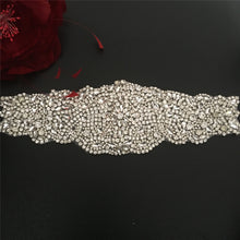 Load image into Gallery viewer, Rhinestone Applique Bridal Accessories Heavily Crystal Trim Bling Addition