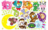 Wallabee Jade Stars Fabric Wall Decals - Complete Chinese Zodiac Collection (Boys version)