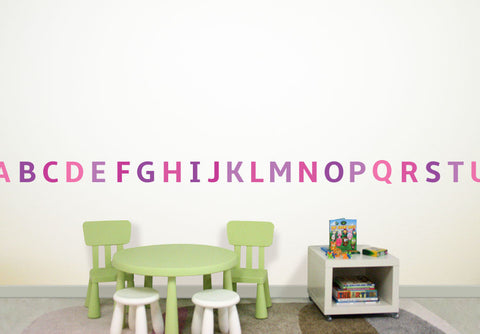 Wallabee Alphabet Fabric Wall Decals (Pink)