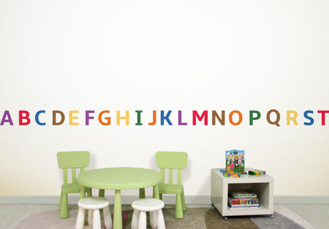 Wallabee Alphabet Fabric Wall Decals (Primary)