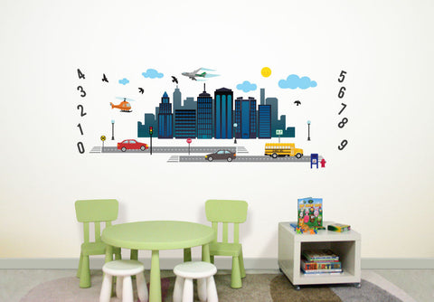 Wallabee Cityscape Fabric Wall Decals