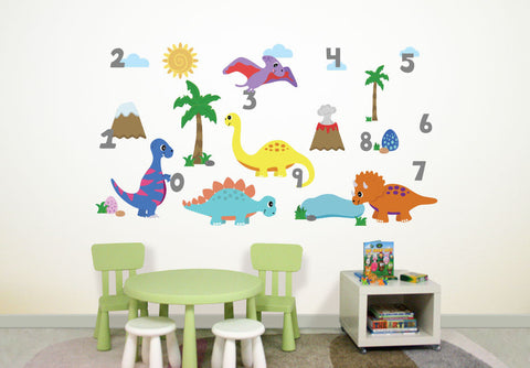 Wallabee Dinos Fabric Wall Decals