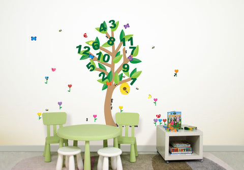 Wallabee Learning Tree Fabric Wall Decals