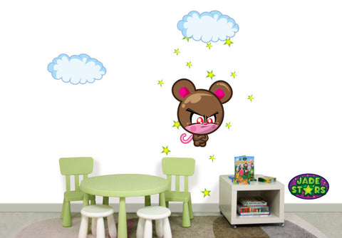 Wallabee Jade Stars Large Fabric Wall Decal - Rat (Boy version)