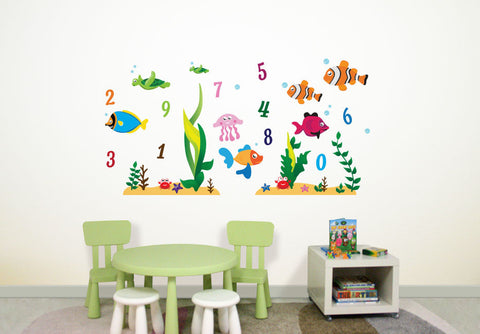 Wallabee Under the Sea Fabric Wall Decals