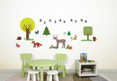 Wallabee Woodland Fabric Wall Decals