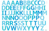 Wallabee Alphabet Fabric Wall Decals (Blue)