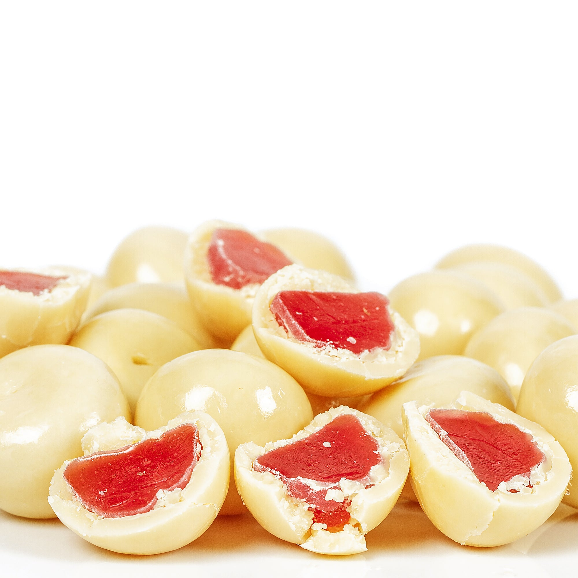 210g White Chocolate Coated Raspberries