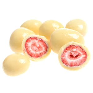 150g White Chocolate Coated Freeze Dried Strawberries