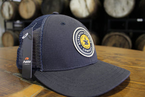 Navy Trucker Hat w/ Yellow Logo Patch - Alesmith Brewing Company