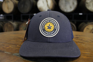 Navy Trucker Hat w/ Yellow Logo Patch - AleSmith Brewing Co.