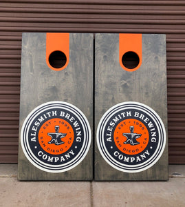 AleSmith Logo Cornhole Board Set - AleSmith Brewing Co.