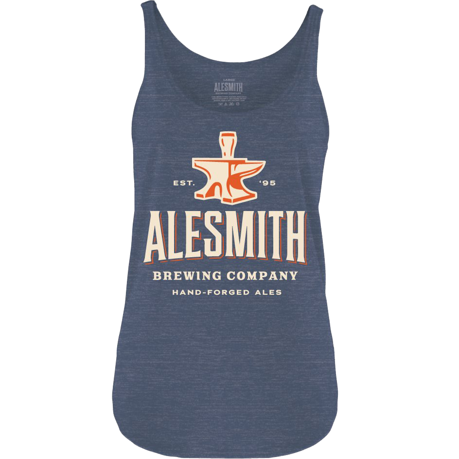 Heather Navy Tank Top - Alesmith Brewing Company