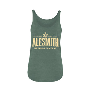 AleSmith Women's Tank- Green - Alesmith Brewing Company