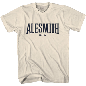 Vintage White Standard Issue Tee - Alesmith Brewing Co.