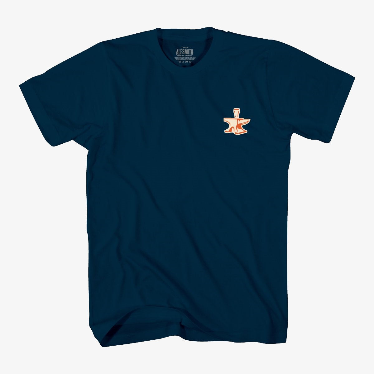 Navy with Orange Anvil Tee - Alesmith Brewing Company