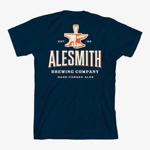 Navy with Orange Anvil Tee - AleSmith Brewing Co.