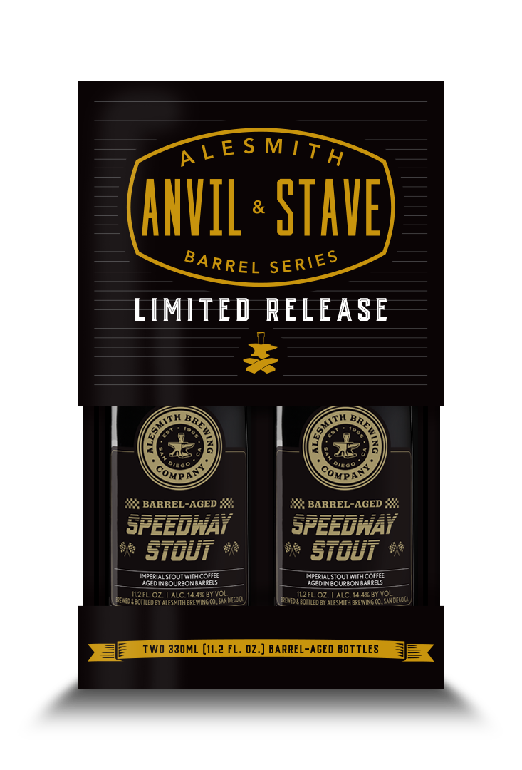 Barrel-Aged Speedway Stout (2020, 14.4% ABV) 2-Pack 330ml Bottles - AleSmith Brewing Co.