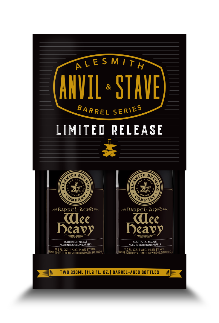 Barrel-Aged Wee Heavy (2020, 14.6% ABV) 2-Pack 330ml Bottles - AleSmith Brewing Co.