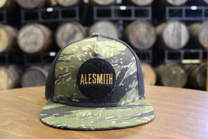 Velcro Patch Flat Bill Hat-Camouflage - Alesmith Brewing Company