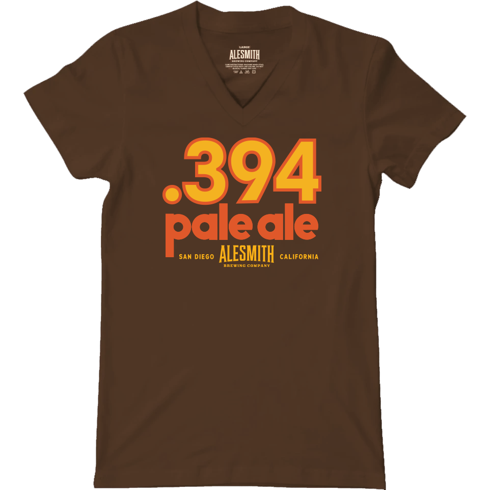 .394 San Diego Pale Ale Women's V-Neck - Alesmith Brewing Company
