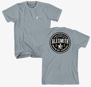 Forged Circle Tee - Stonewash Blue - AleSmith Brewing Co.
