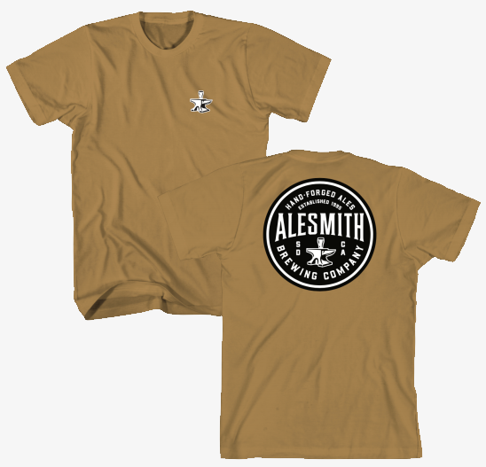 Forged Circle Tee - Antique Gold - AleSmith Brewing Co.