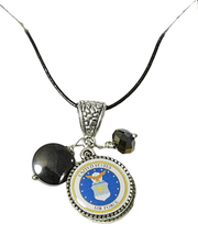Airforce mini charm necklace