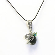 Charm and Gemstone Pendant Necklace's