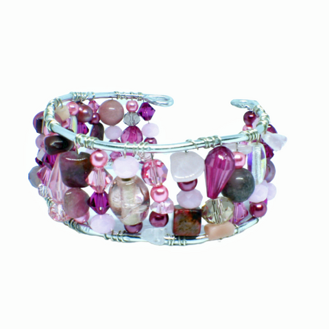 Shades of Pink One of a Kind Bracelet