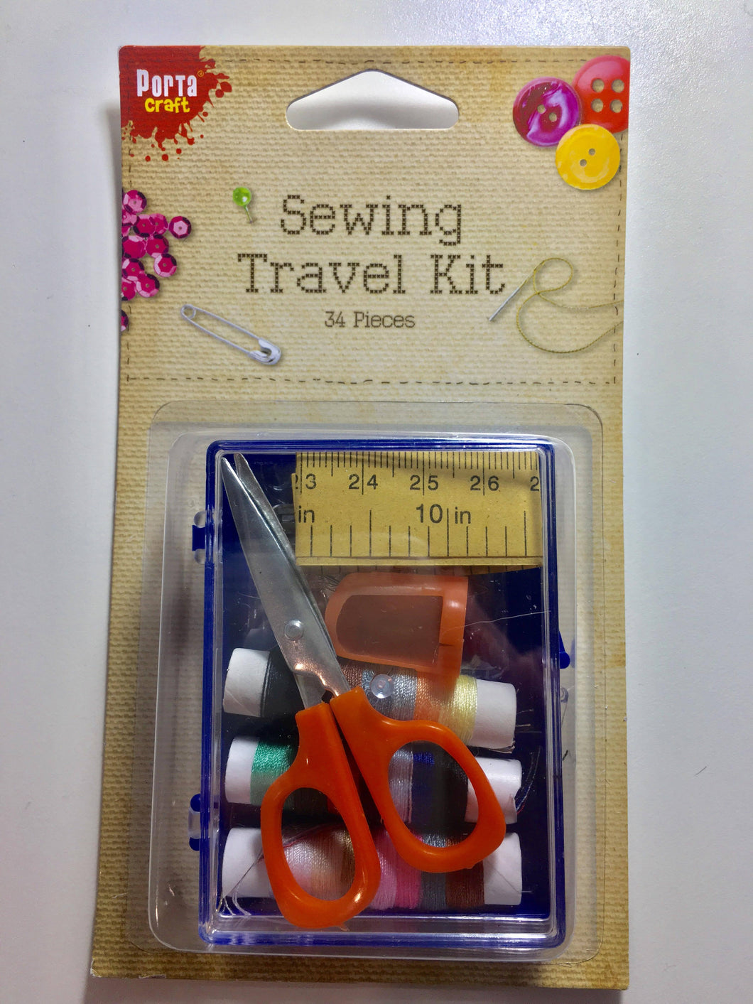 Sewing Travel Kit, 34 pieces