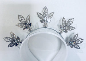 Stella Metal Leaf Crown