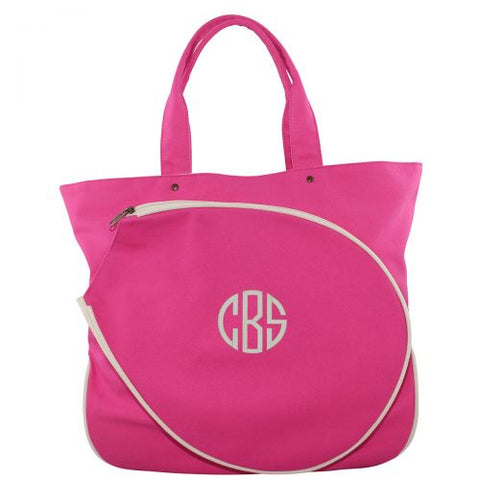 Pink Monogrammed Tennis Bag - Heart Melter - Personalized Gifts