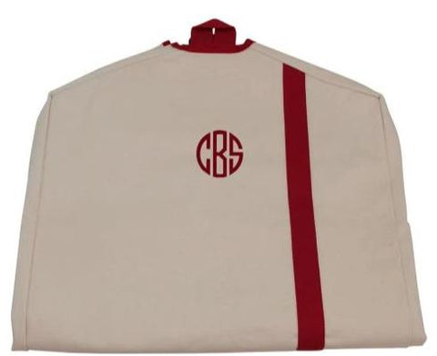 Personalized Garment Bag Red Trim - Heart Melter - Personalized Gifts