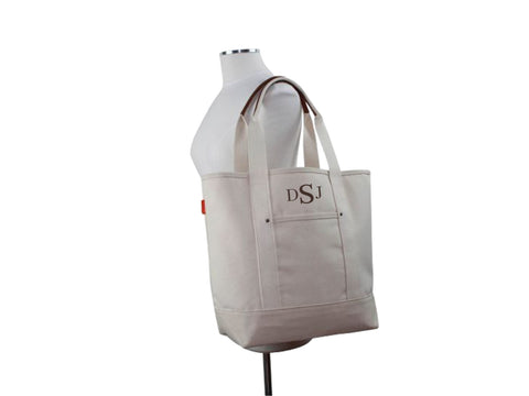 Monogrammed All Natural Ultimate Tote - Heart Melter - Personalized Gifts