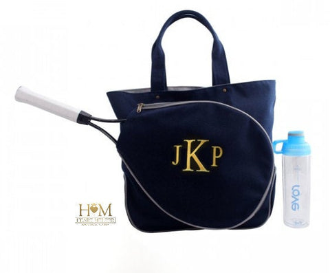 Navy Monogrammed Tennis Bag - Heart Melter - Personalized Gifts