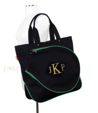 Black Monogrammed Tennis Bag - Heart Melter - Personalized Gifts