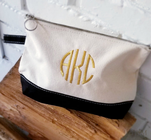 Monogrammed Cosmetic Bag - Heart Melter - Personalized Gifts