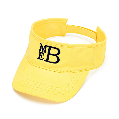 Monogrammed Yellow Visor - Golf Visor - tennis Visor - Team Hat - Heart Melter - Personalized Gifts