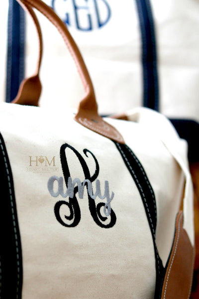 Monogrammed Classic Black Weekender Bag - Heart Melter - Personalized Gifts