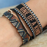 STOCKING FILLERS ~ Woven stacking bracelet