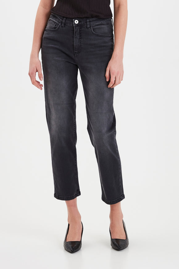 Ichi Twiggy Raven Jeans- Washed Grey
