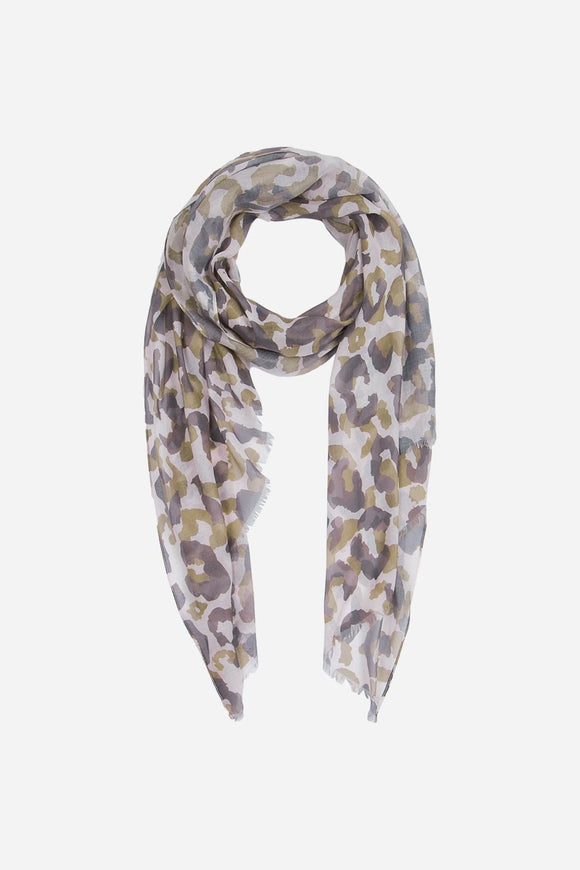 Abstract Camo Leo print Scarf