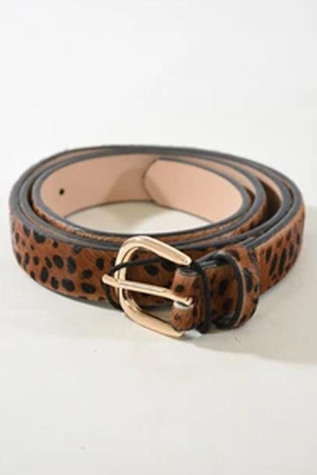 Dalmation Leather belt ~ Brown