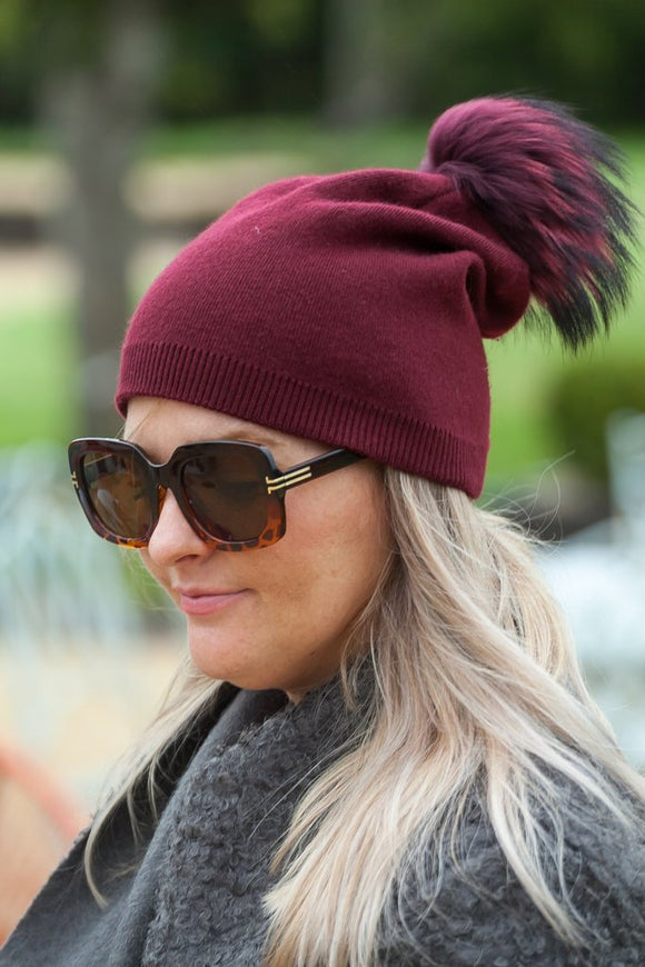 May Beanie Bobble Hat