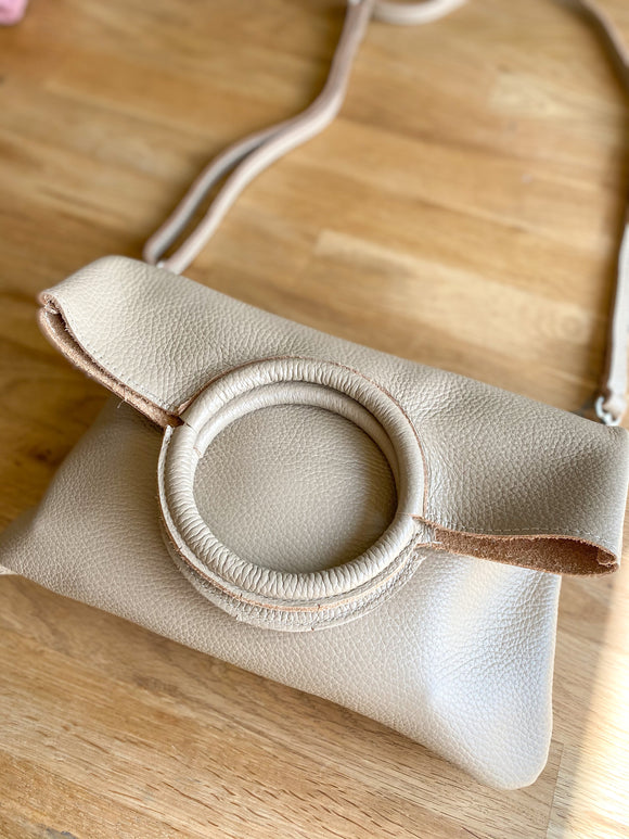 Leather Foldover bag