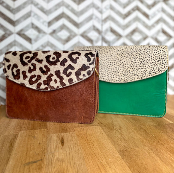 Animal Print 'Eadie' bag***two colours***