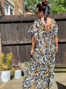 Flora Wispy Floral Maxi Cover up