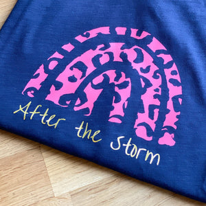 'After the Storm' Navy Raw Edge tee ***AVAILABLE TO ORDER***