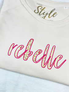'Rebelle' Cream Sweatshirt ***AVAILABLE TO ORDER***